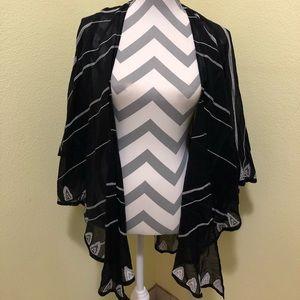 Lucky brand sheer striped kimono
